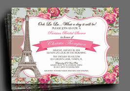 vintage floral parisian invitation printable or printed with free