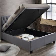 yorkie grey fabric ottoman bed master bed aug17 pinterest