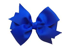 4 inch royal blue hair bow blue bow royal blue bow 4 inch