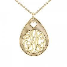 Monogram Pendant Necklace Classic Monogram Pendant 30mm Personalized Jewelry
