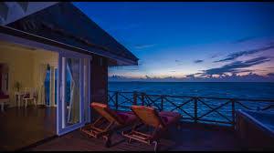 sunset reef villa best overwater hotel youtube
