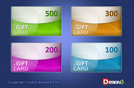 gift card packs clean gift cards banner pack design3edge