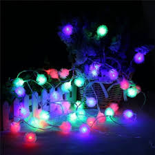 christmas tree shaped lights colorful 20 led dandelion christmas tree shaped string lights