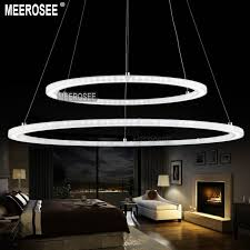 led suspended lighting fixtures modern two rings led pendant light arcylic led ring suspension light