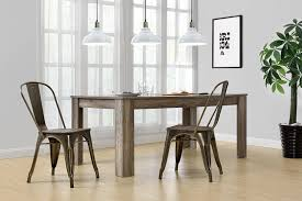 The Appropriate Modern Dining Room Amazon Com Dhp Fusion Metal Dining Chair With Wood Seat Set Of 2