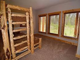 luxury log cabin at base of rocky mountain vrbo