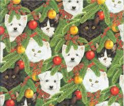 cat christmas wrapping paper animal christmas wrapping paper kritters in the mailbox
