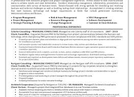 resume sample of management resume awesome program manager