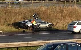 lamborghini aventador crashes lamborghini aventador worth 260k crashes on m6 telegraph