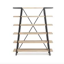 Industrial Bookcase With Ladder by Wondrous Industrial Book Shelf 32 Industrial Shelf Brackets
