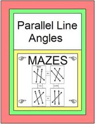 Same Side Interior Angles Definition Geometry Exterior Angle Theorem Maze Finding Angle Measures Exterior