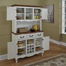 Oak Hutch And Buffet by Home Styles Oak And Rubbed White French Countryside Buffet And