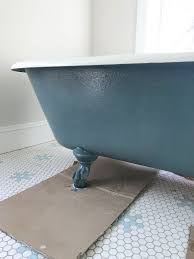 how to refinish a nasty old clawfoot tub
