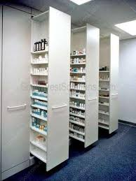pharmacy movable casework cabinets medical millwork shelving