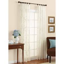 sheer window treatments better homes and gardens embroidered sheer curtain panel walmart com