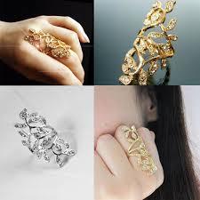 fashion long rings images Romantic greek goddess sparkling rhinestone stainless steel long jpg