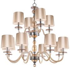 modern blown glass chandelier 12 light shades of light