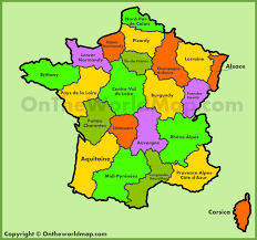 Alsace Lorraine Map Map Of Old Regions Of France Old Administrative Map Of France