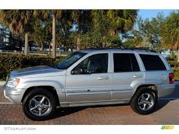 bright silver metallic 2004 jeep grand cherokee overland 4x4