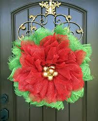 elegant deco mesh poinsettia wreath 86 with deco mesh poinsettia