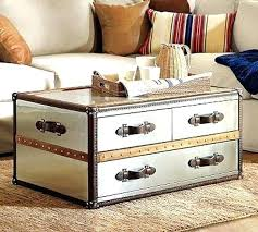 Trunk Style Coffee Table Trunk Style Coffee Tables Working Trunk Style Coffee Table Set