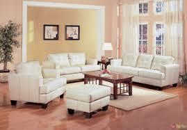 samuel cream off white bonded leather living room sofa u0026 loveseat
