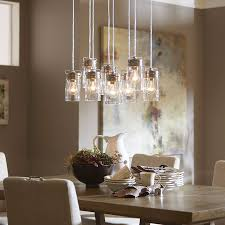 Brushed Nickel Glass Pendant Light Reminiscent Of Jelly Jars This Multi Pendant Light Is A Statement