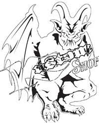 airbrush stencil gargoyle 4 full size multilayer template