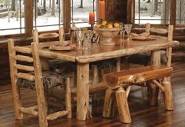 furniture elegant log cabin dining table furniture decor plus
