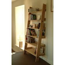 Oak Ladder Bookcase by Garden Trading Hambledon Raw Oak Shelf Ladder Shelving Units
