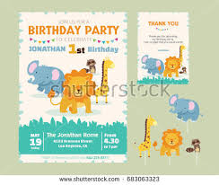 cute dinosaur theme 1st birthday party stock vector 715629481
