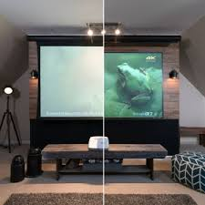 Ces 2016 Elite Screens Epv Demos Ambient Ceiling Light Rejecting