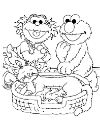 printable sesame street coloring pages 1st b day pinterest