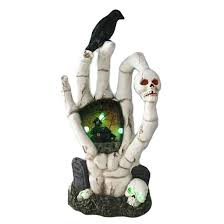 Outdoor Christmas Decorations Rona by Halloween Table Decoration Hand And Skull Led White Rona