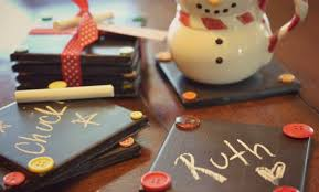 diy chalkboard coasters easy handmade teacher gift idea