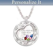 necklace with children s birthstones 122 best mothers necklace with kids names images on