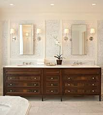 Smaller Area For Double Sinks But I Like The Storage Cabinet In - Bathroom mirrors for double vanity