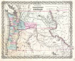 Map Of Washington Coast by File 1855 Colton Map Of Washington And Oregon Geographicus