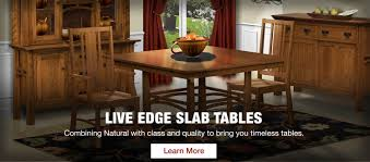 Slab Dining Room Table by Twin Brook Furniture Llc