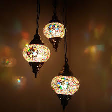Turkish Chandelier Turkish Moroccan Hanging Glass Mosaic Chandelier L