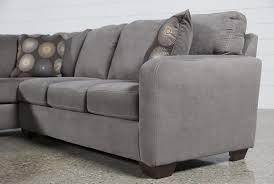 Ashley Furniture Leather Sectional With Chaise Zella Charcoal 2 Piece Sectional W Laf Chaise Living Spaces