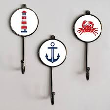 themed wall hooks nautical sea boat themed bathroom coat wall hooks by pushka home