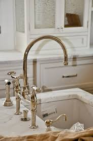 nickel faucets kitchen perrin and rowe bridge faucet polished nickel kitchen