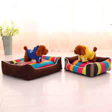 heureux warm dog bed thick colorful stripe dog house for medium