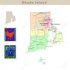 Map Rhode Island Usa States Series Rhode Island Political Map With Counties