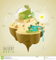 oasis landscape design stock vector image 66986499