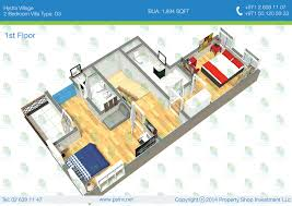 Sqft To Sqm by 1st Floor 2 Bedroom Villa Type D3 Bua 176 11 Sqm 1894 Sqft 1