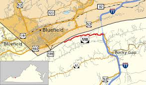 Road Map Virginia by Virginia State Route 598 Wikipedia