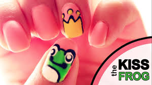 nail art tutorial kiss the frog to find your prince youtube