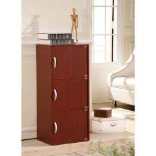 Book Cabinet With Doors by Mahogany Bookcases Home Office Furniture The Home Depot